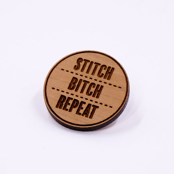 Stitch - Bitch - Repeat Pin