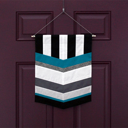 Chevron & Stripes Banner - FREE PDF Pattern