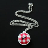 Fabric + Plastic Necklace - Small - A Ruined Picnic