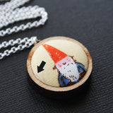 Fabric + Wood Necklace - Small - The Gnome Next Door