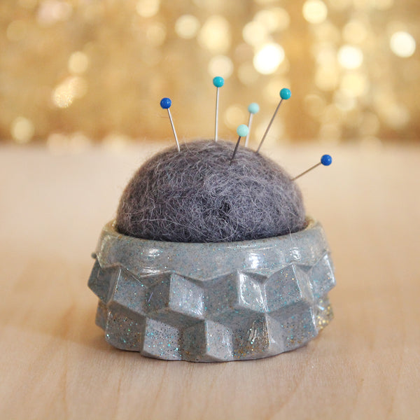 Plastic and Wool Pin Cushion #004