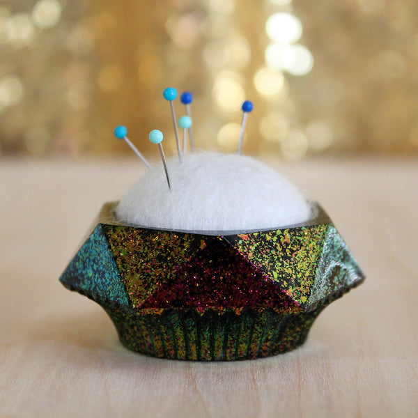Plastic and Wool Pin Cushion #010