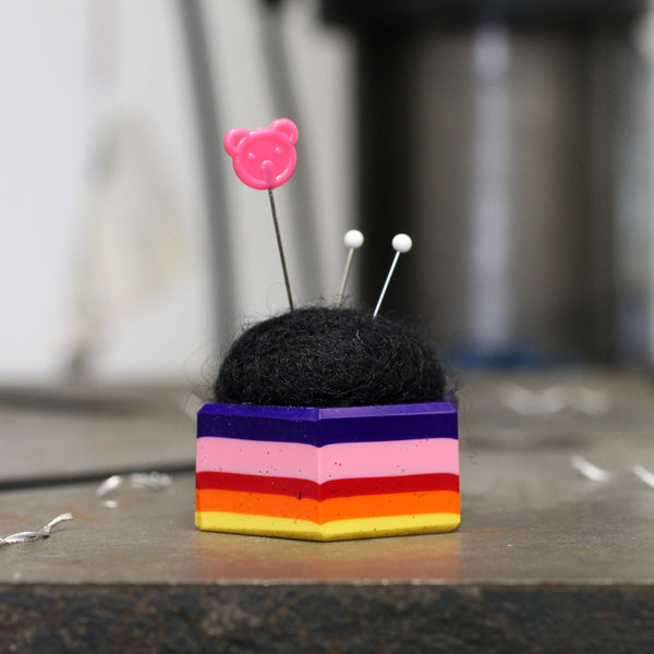 Plastic and Wool Pin Cushion #018