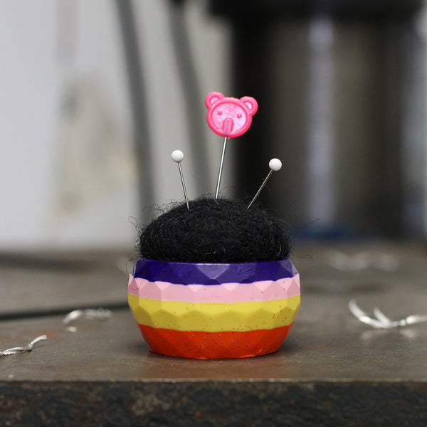 Plastic and Wool Pin Cushion #020