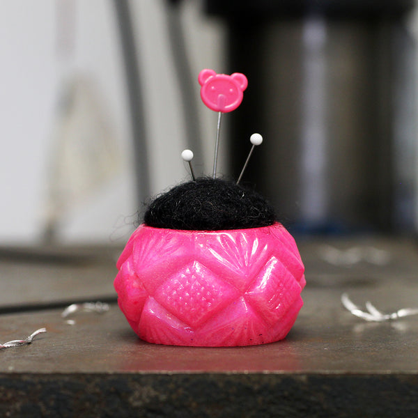 Plastic and Wool Pin Cushion #021
