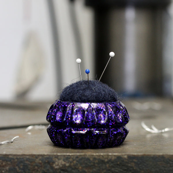 Plastic and Wool Pin Cushion #023