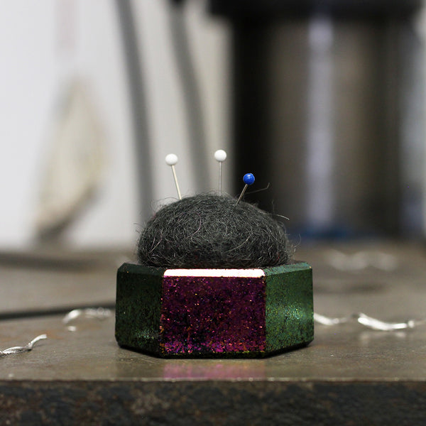 Plastic and Wool Pin Cushion #027