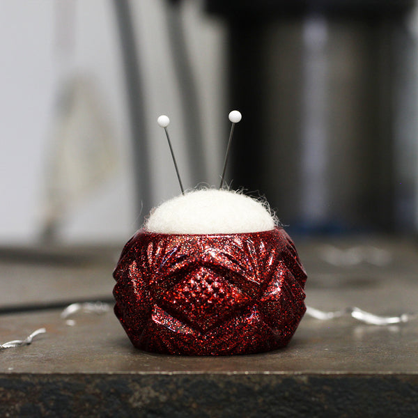 Plastic and Wool Pin Cushion #030