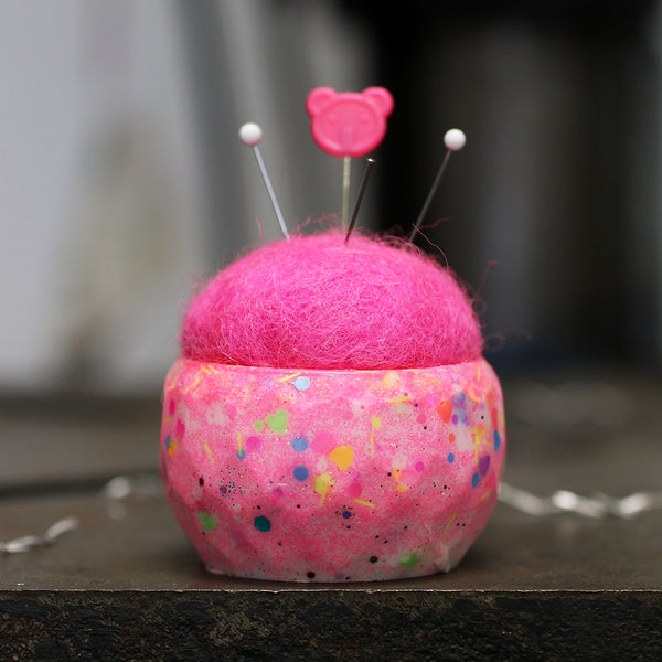 Plastic and Wool Pin Cushion #037