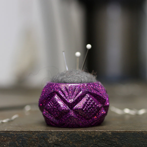 Plastic and Wool Pin Cushion #044