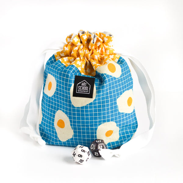 Egg on Your Face Drawstring Style Dice Bag