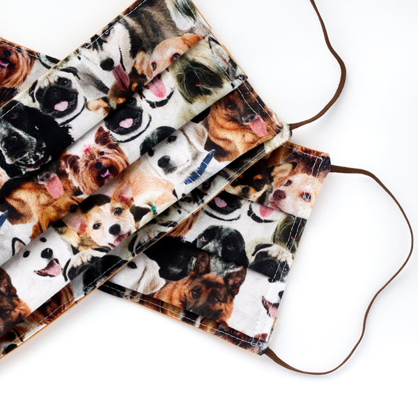 So Many Dogs! Mask - Adult Size / Accordion Style