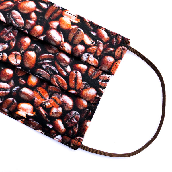 Coffee Beans Artist Series Mask - Adult Size / Accordion Style