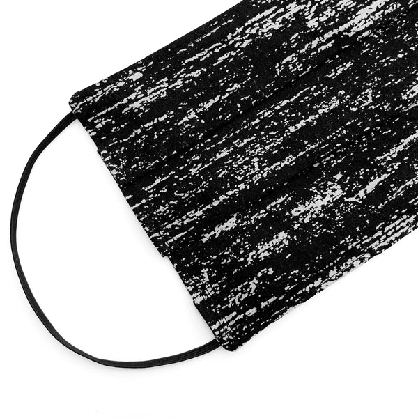 Black Texture Mask - Adult Size / Accordion Style
