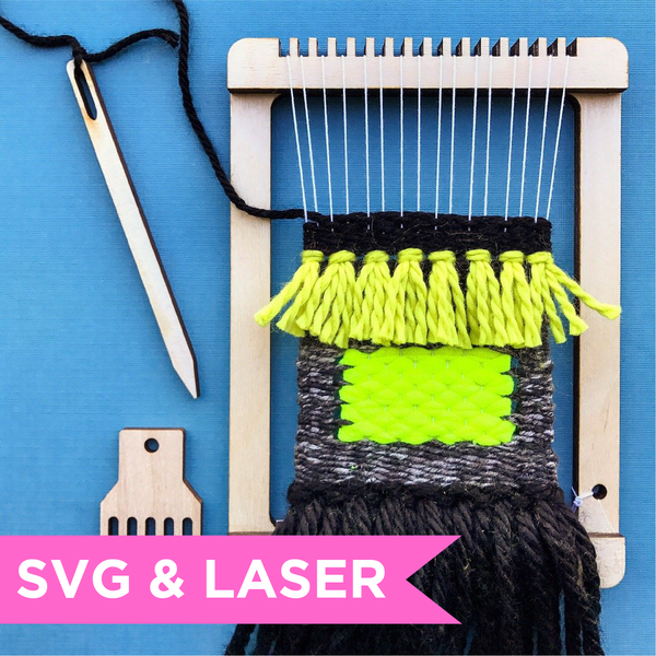 DIGITAL DOWNLOAD - Weaving Loom SVG Laser File - TWO sizes