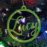 Custom Laser Cut Cursive Ornaments - MADE TO ORDER