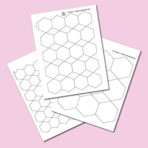 Various Printable Hexie Templates - FREE PDF