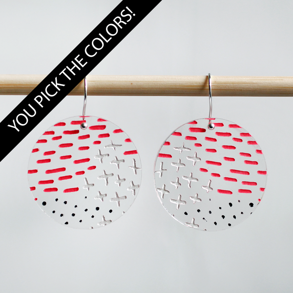 Dash Plus Dot Earrings - DESIGN YOUR OWN
