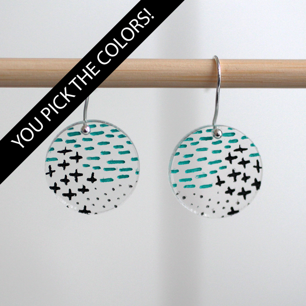 Mini Dash Plus Dot Earrings - DESIGN YOUR OWN