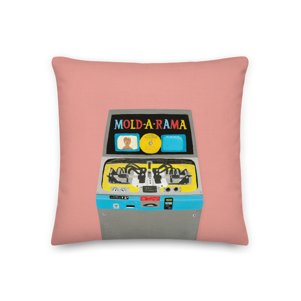 """My Favorite Vending Machine"" Pillow in Pink"