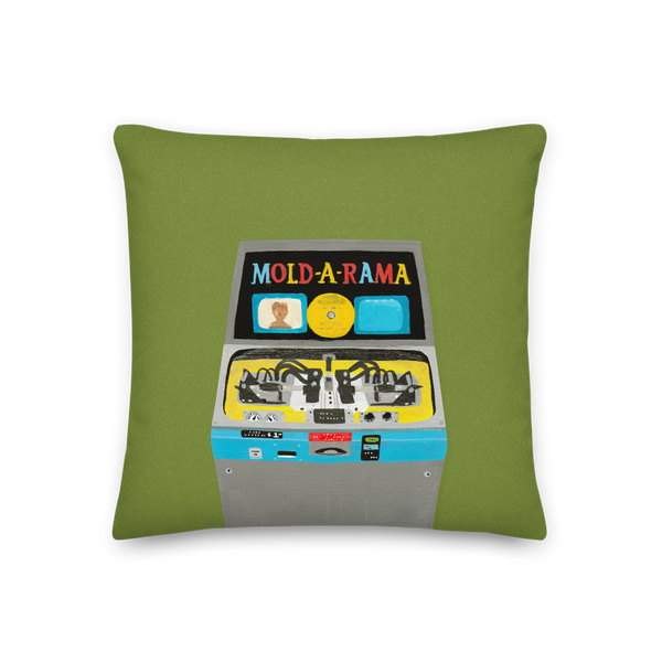 """My Favorite Vending Machine"" Pillow in Olive"