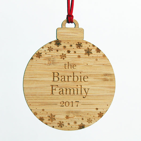 Snowy Night - Custom Wooden Ornament - MADE TO ORDER