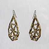 Broken Heart Earrings in Gold & Silver