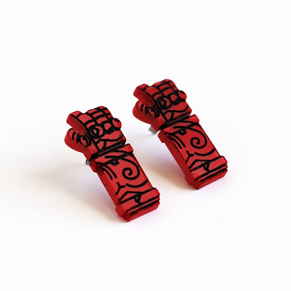 Hand of Doom Stud Earrings