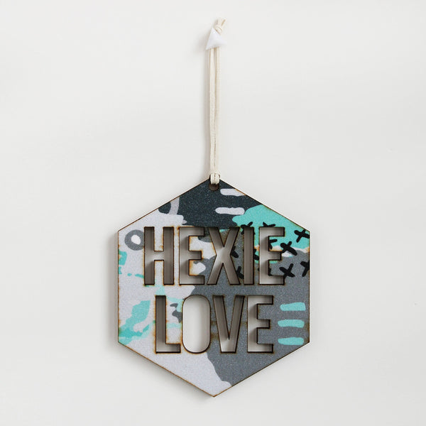 Hexie Love Wall Hanging - Abstract Experiment #001