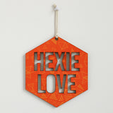 Hexie Love Wall Hanging - Orange Triangles