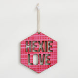 Hexie Love Wall Hanging - Pink on Pink