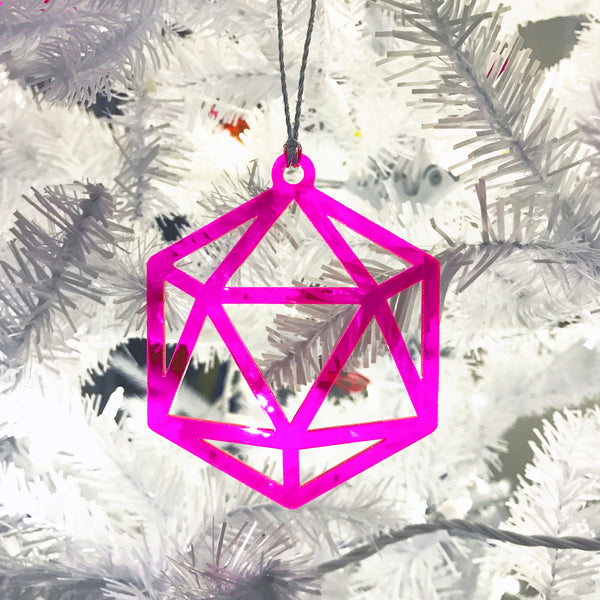Acrylic Icosahedron Ornaments - Set of 6