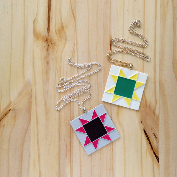 Quilt Block Necklace | COMING SOON
