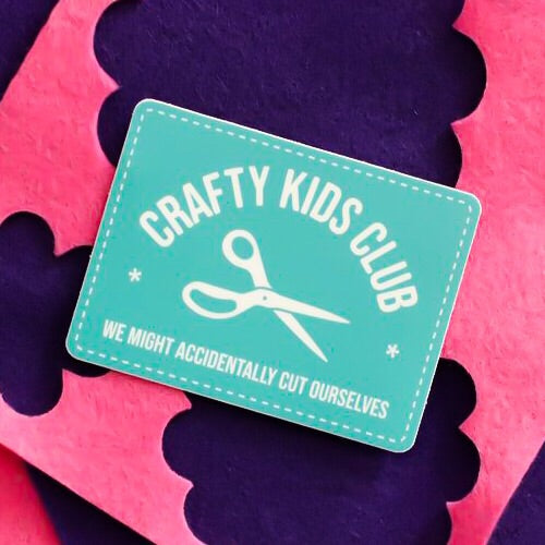 Crafty Kids Club Vinyl Sticker