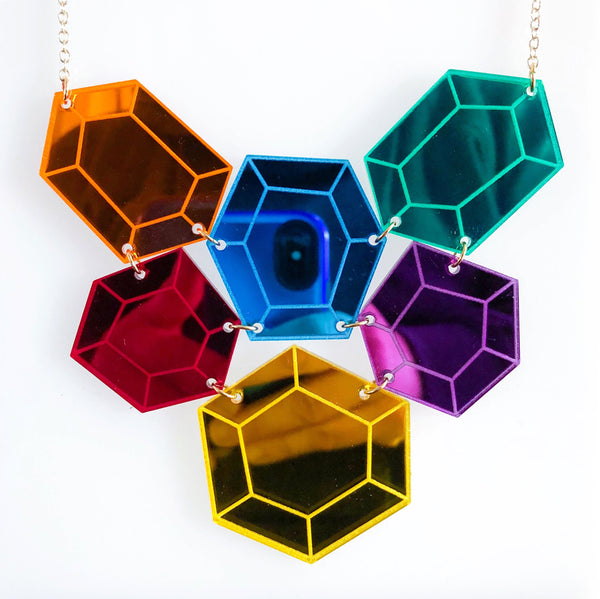 Multi Gem Necklace - Infinity Stones