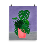 """Monstera Painting Number 1' Print"