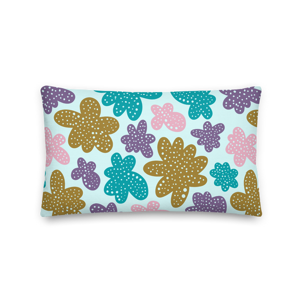 Abstract Flowers Pillow