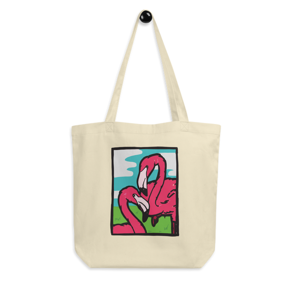 80's Flamingo Eco Tote Bag