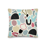 Abstract Shapes #001 Pillow - Sandstrorm