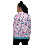 Monstera Doodles Unisex Bomber Jacket
