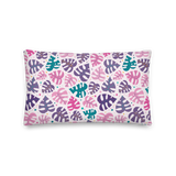Monstera Doodles Pillow in Jewel Tones