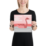 Pink Swan Photo Quality Print