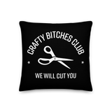 Crafty Bitches Club Pillow