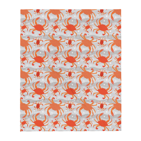 Cooked Crabs Plush Throw Blanket