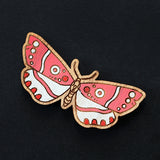 Painted Moth Brooch - Various Colors