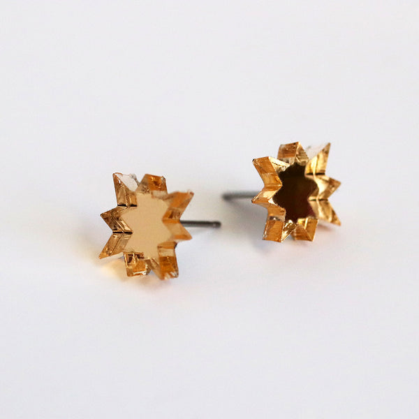 Higher, Further & Faster Stud Earrings - Various Colors