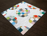Pixelated Circles Quilt - PDF Pattern
