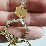 Silver & Gold Scattered Hexies Necklace