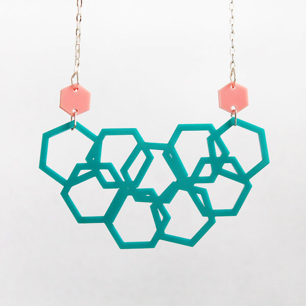 Perfectly 80's Scattered Hexies Necklace