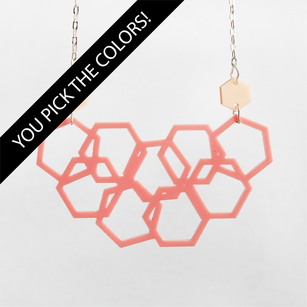 Scattered Hexies Necklace - DESIGN YOUR OWN
